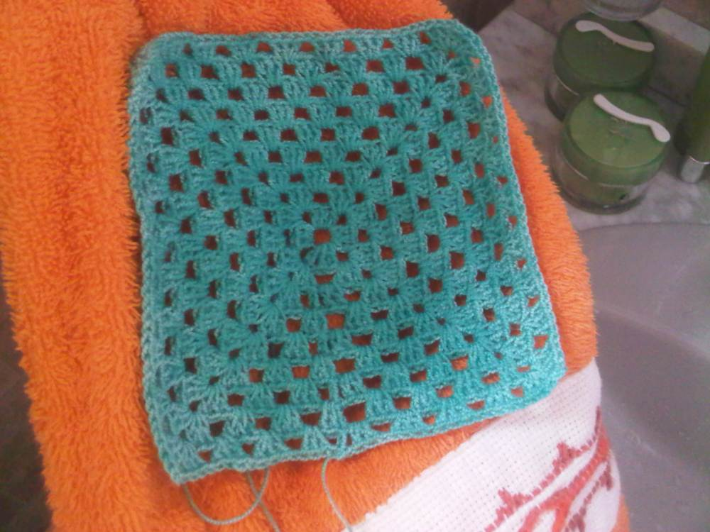 Blocking o Bloqueo de tejido a Crochet  Tutorial - PAP (4/6)