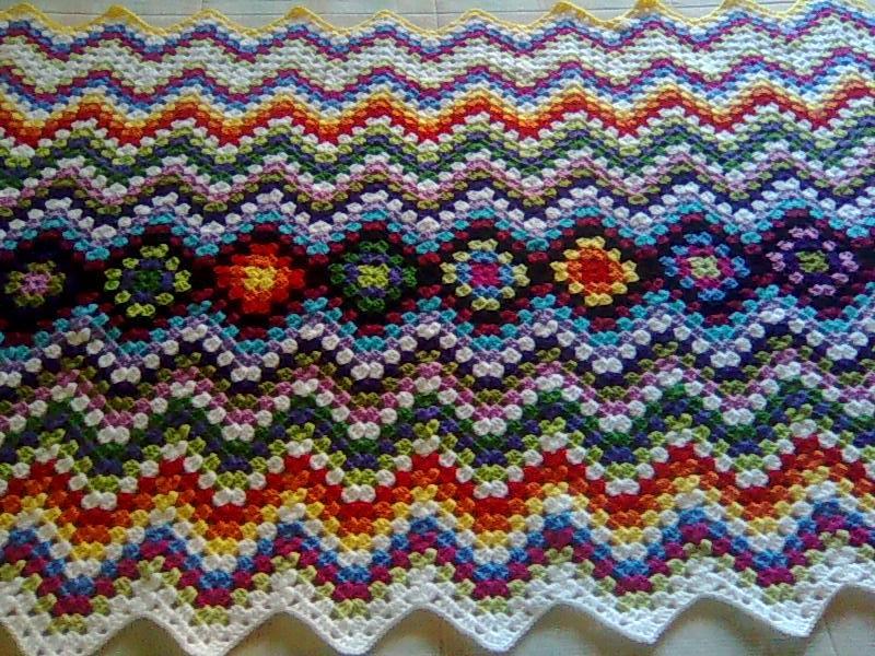 Lujo Crochet Chevron Patrón Manta Ornamento - Manta de Tejer Patrón ...