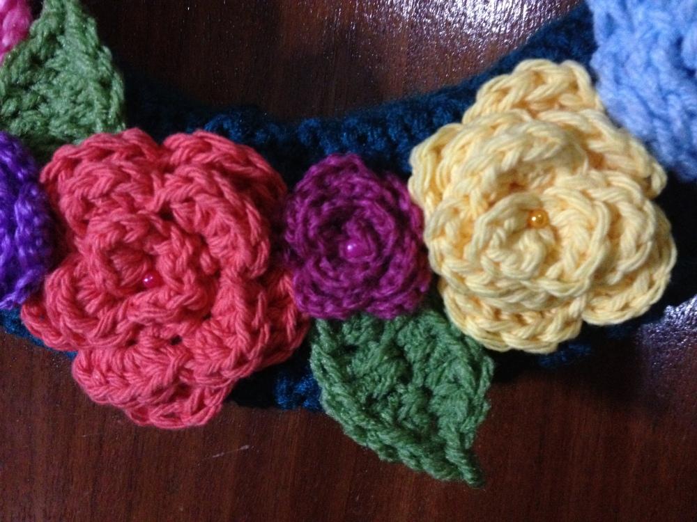 Corona de Rosas - Paso a Paso - Patrón Gratis - Crochet (4/4)