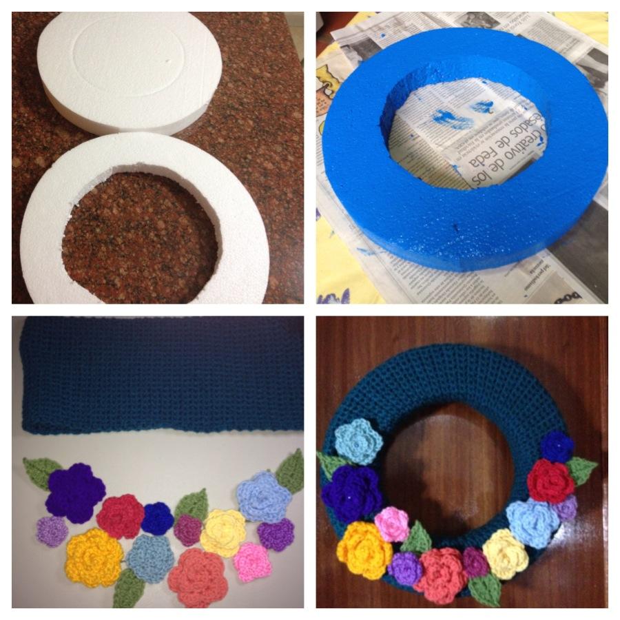 Corona de Rosas – Paso a Paso – Patrón Gratis – Crochet   Hecho a ...
