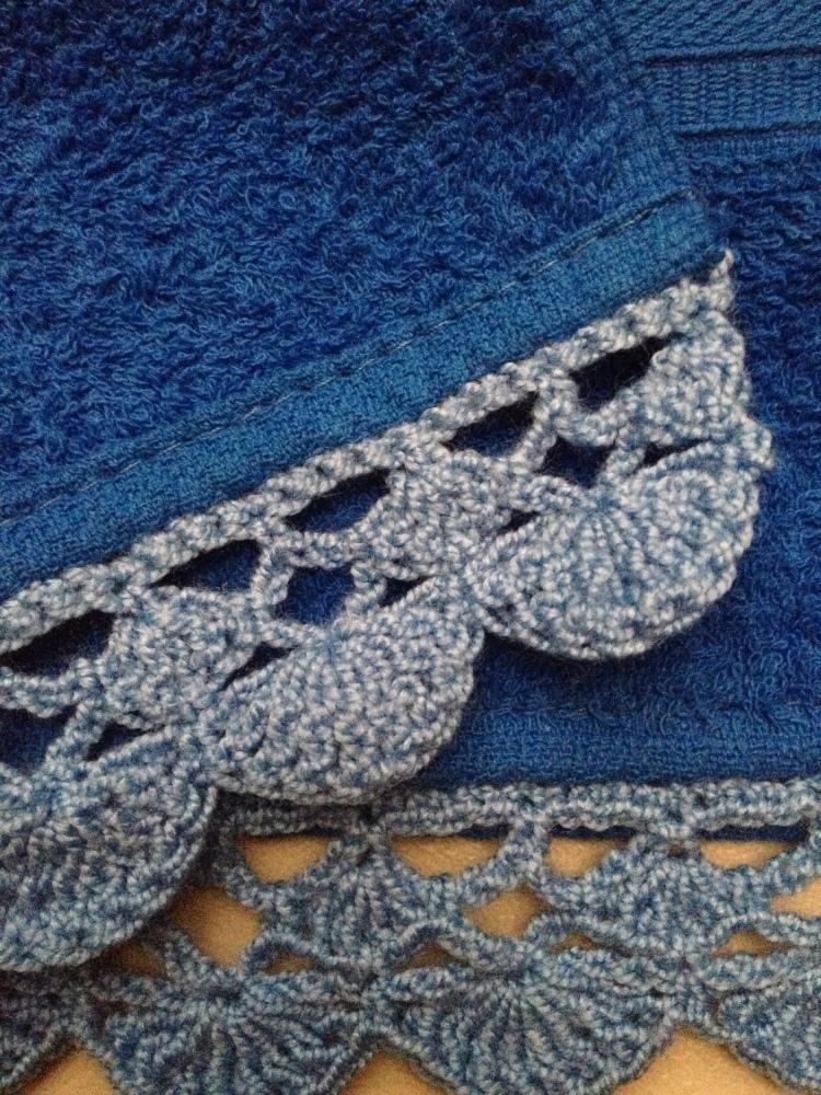Toallas Personalizadas con Bordado y Puntilla Tejida en Crochet (2/6)