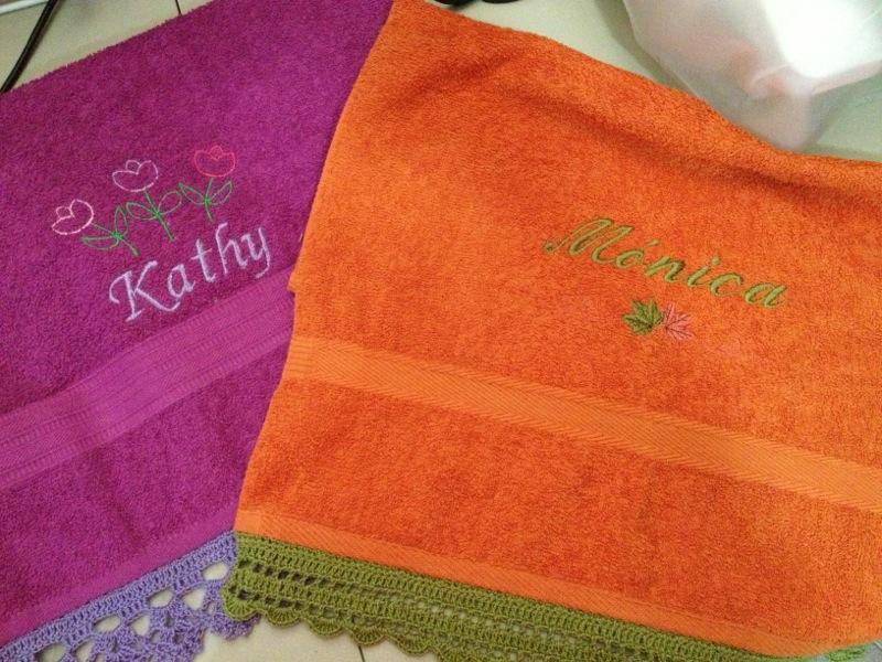 Toallas Personalizadas con Bordado y Puntilla Tejida en Crochet (1/6)