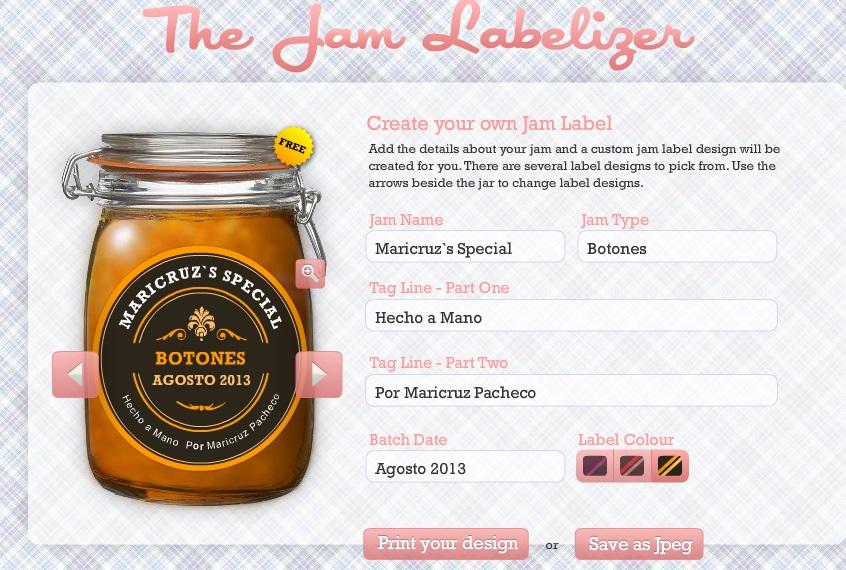 Etiquetas gratis - Un blog digno de compartir - Jam Labelizer
