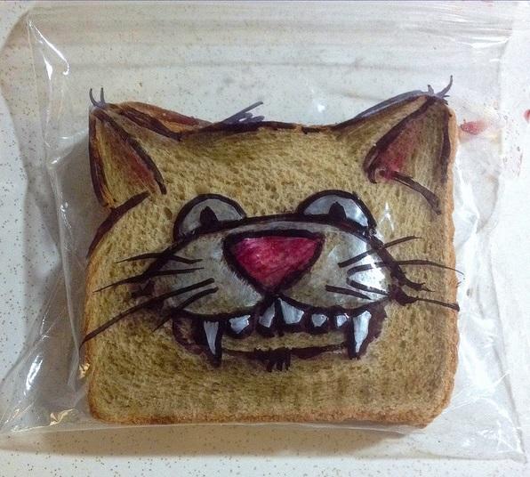 Ilustraciones fabulosas en bolsas de sandwich y otros