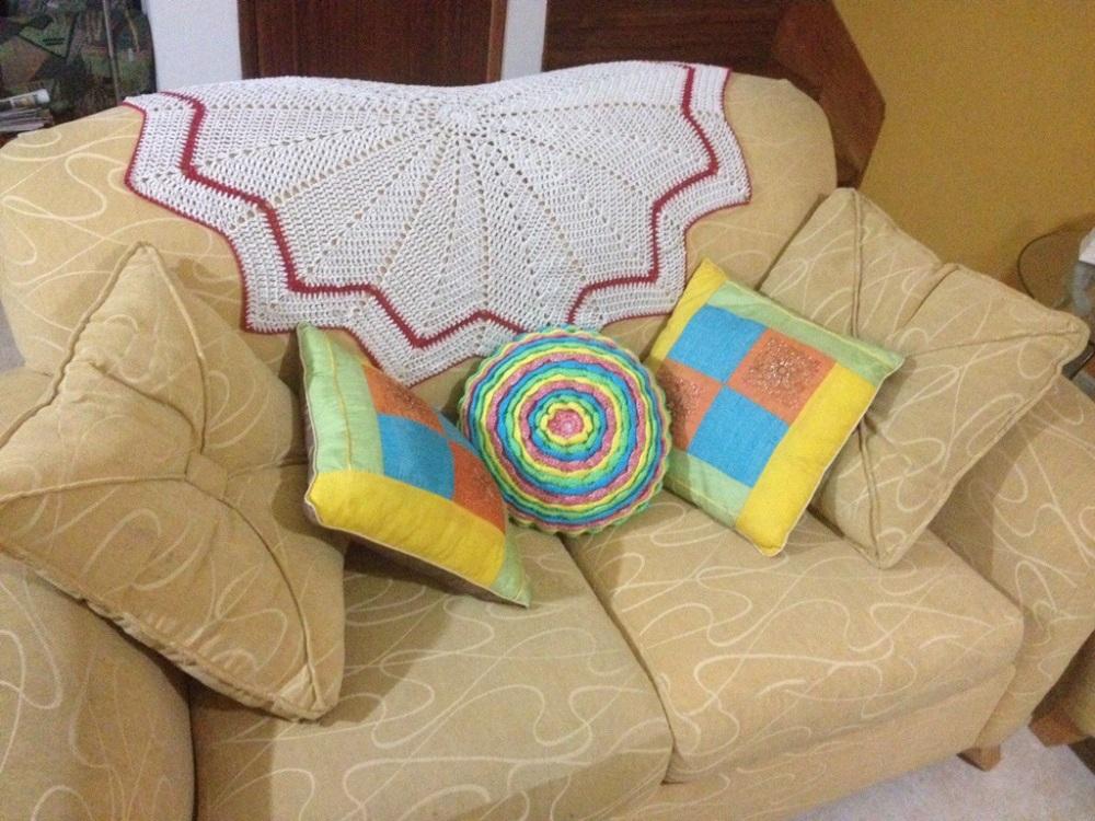 Una manta de picos para el sofá. Crochet (1/4)