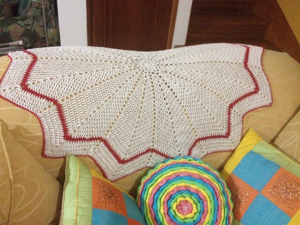 Una manta de picos para el sofá. Crochet (3/4)