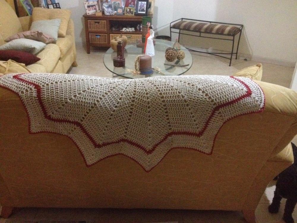 Una manta de picos para el sofá. Crochet (4/4)