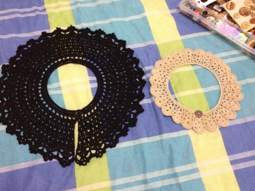 Cuellos a crochet - Peter Pan Crochet Collars  - Free Pattern - Patron Gratis (4/6)