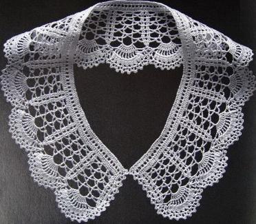 Cuellos a crochet - Peter Pan Crochet Collars  - Free Pattern - Patron Gratis (6/6)
