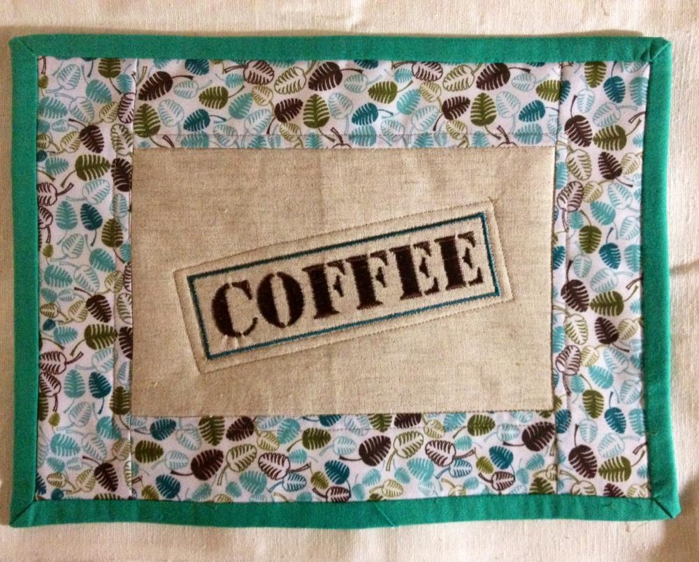 Mug Rug o ese lindo tapete para la taza de cafe (3/5)