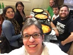Pizza con mi familia